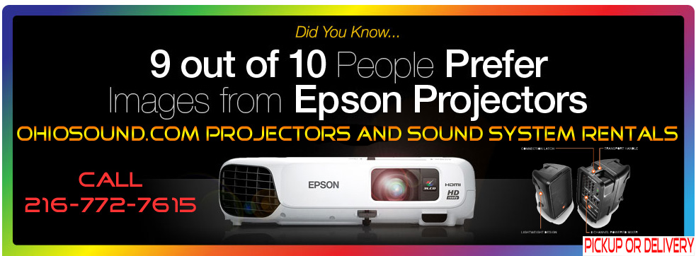 Projector sound system rental